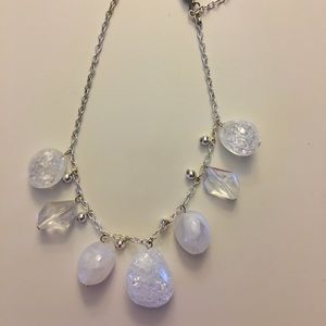 Jewelry - White and clear stone necklace